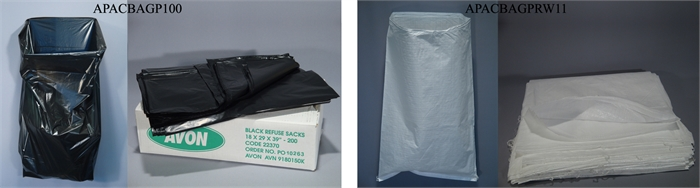 Garbage and rubble bags