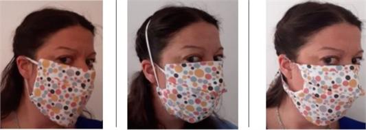 Facial mask textile reusable