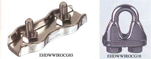 Iron rope clamps