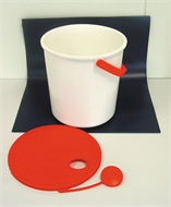 Bucket, plastic, for distribution
