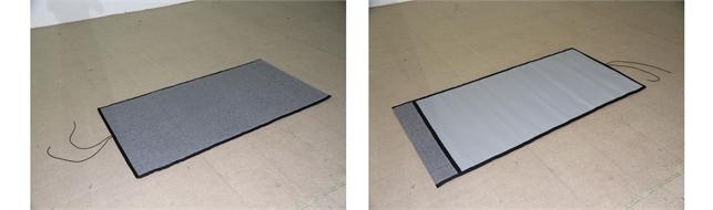 Insulating floor mat against cold
