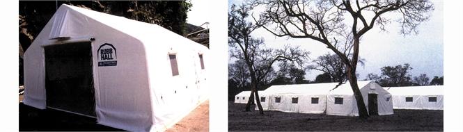 Hospital tent, PVC, 88 m2