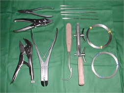 SET, BONE WIRING & KIRSHNER, 8 sizes + instruments