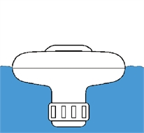 Floating doser for chlorine