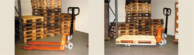 Pallet trolley, hand operated