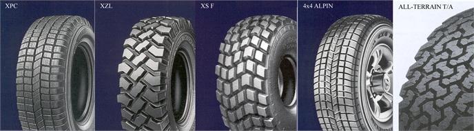 Tyres, 4x4 vehicles, all terrain