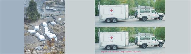 ERU basic health care unit complete, Norwegian Red Cross