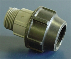 "Coupling compression, thread. male 1"" to pipe d.ext 32mm"