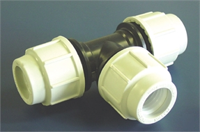 Coupling compression T, for pipe d. ext: 32mm