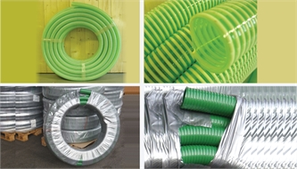 Water hose pipe, spiralled