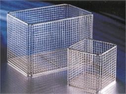 Basket, wire mesh, square