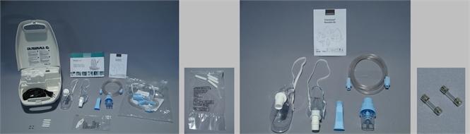 Nebuliser and compressor system, PORTA-NEB, 230V-50Hz, w/accessories