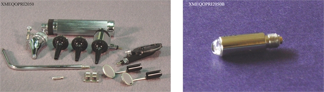 Otoscope-ophtalmoscope, standard light bulb, with case