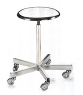 Stool, for O.T., with castors, stainless steel