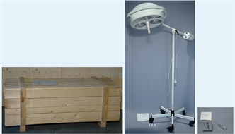Lamp, operating, 3 spots, mobile, 220V, with accessories