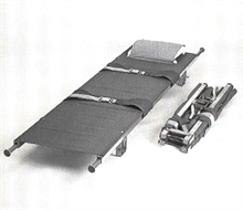 Stretcher, foldable in width and lenght
