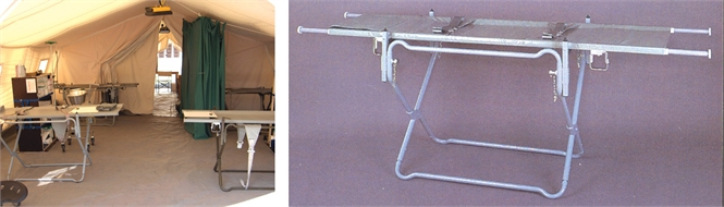 Stretcher, stand, foldable