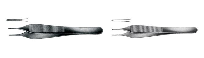 Forceps, delicate tissue, Adson