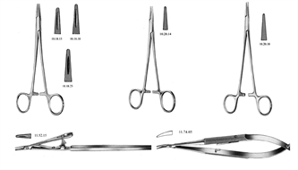 Needle holder, Mayo-Hegar, Baby-Crile, Stevens, Barraquer