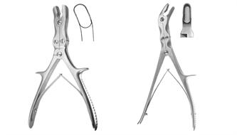 Forceps, bone rongeur, double action, Stille-Luer, Stille