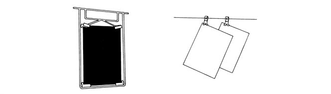 Hanger and clip,  for X-ray film