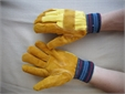GLOVE, protection, heavy duty soft leather, size 10, pair