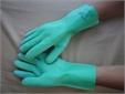 GLOVE, H. DUTY, rubber + canvas, elbow length, pair, size M
