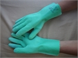 GLOVE, H. DUTY, rubber + canvas, elbow length, pair, size S