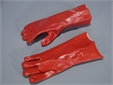 GLOVES, chemical protection, heavy duty rubber, size 8 pair