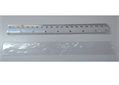 RULER, 20 cm, double graduation, transparent plastic
