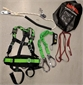 SAFETY HARNESS, for climbing masts, twin hooks, slings, bag