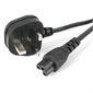 POWER CORD, BS1363 plug (UK) to C5 (Mickey) connector, 2m