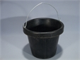 BUCKET, heavy duty rubber, masonery type