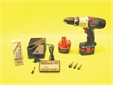 KIT,  CORDLESS DRILL, 14V, with drive bits and drill bits