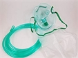 Mask, oxygen, with connecting tube, nose clip and neck band, paediatric