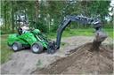 DIGGER, 4 wheel drive, compact backhoe loader, 2tons, 25hp