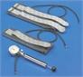 Tourniquet, pneumatic, complete, with arm cuff, leg cuff and hand pump-manometer