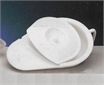 Bedpan, with handle + cover